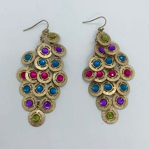 Jewelry - Jewel-toned Chandelier Earrings